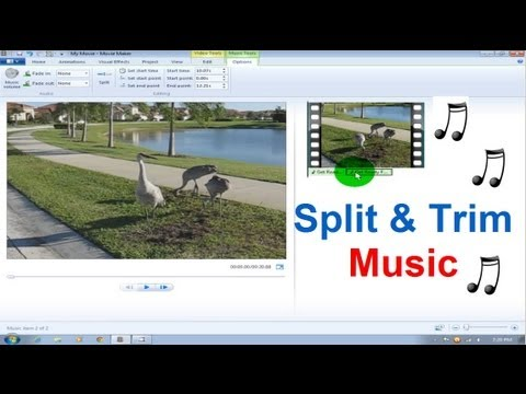Windows Movie Maker Tutorial Windows 7  Music  Song Split & Trim