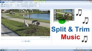 Windows Movie Maker Tutorial Windows 7 - Music / Song Split & Trim