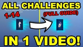 *All* Fortnite's 14 Days of Summer Challenges! Day 1-14 A Complete Guide!