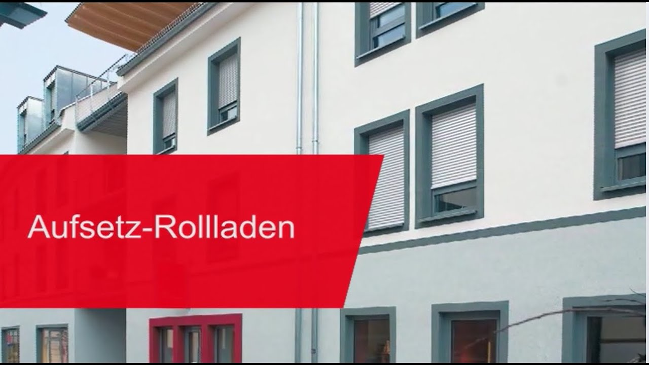 Warema aufsetz rollladen youtube