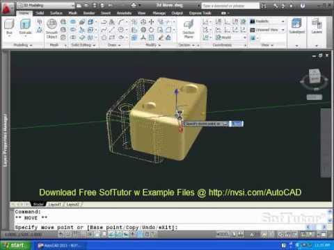 autocad 2012 3d commands pdf