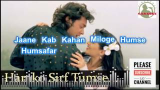 humko sirf tumse pyar he Hindi karaoke for Male singers with Lyrics