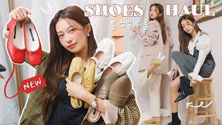Sub) 착한가격! 봄 신발 패션하울  색감 뿜뿜 플랫…