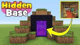"""Minecraft Tutorial: How To Make A Hidden Base Inside a Nether Portal """"Hidden Base""""!!!"""