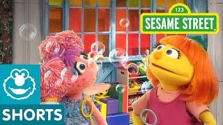 Repeat youtube video Sesame Street: Making Bubbles! | Julia & Abby Cadabby