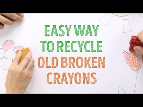 Amazing Life Hack How To Recycle Old Crayons L 5 MINUTE CRAFTS