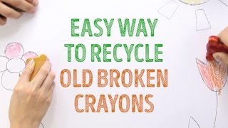 Amazing life hack; how to recycle old crayons l 5-MINUTE CRAFTS