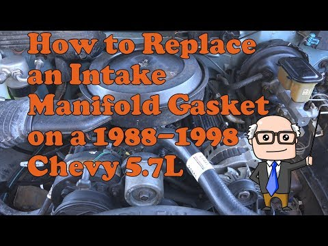 How to install an intake gasket on a 1988-1998 Chevy K1500 Silverado