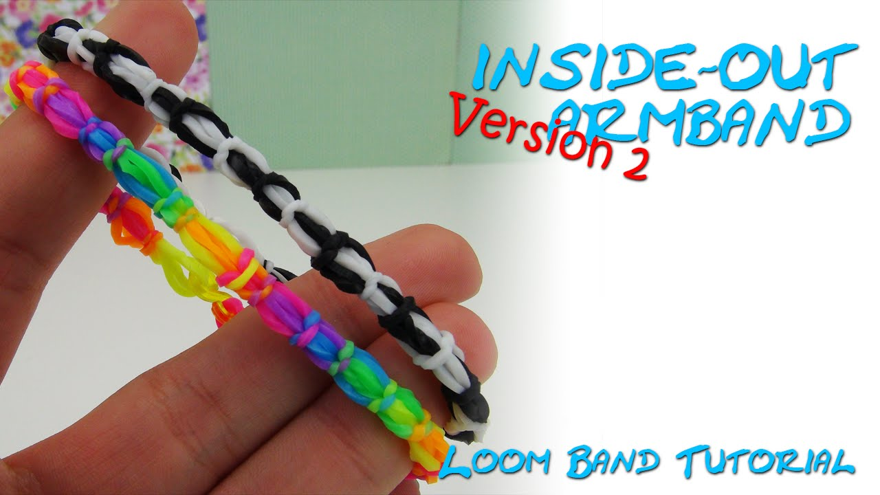 loom bands armband inside out bracelet anleitung deutsch 2 version youtube. Black Bedroom Furniture Sets. Home Design Ideas