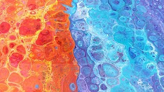 Acrylic pouring  - double Flip Cup - something you must have seen!
