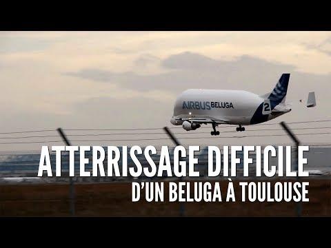 Atterrissage difficile d'un Beluga à Toulouse