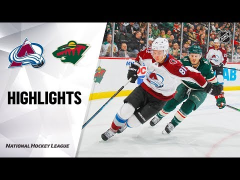 NHL Highlights | Avalanche @ Wild 11/21/19