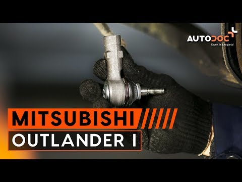 How to replace track rod end Mitsubishi Outlander 1 TUTORIAL | AUTODOC
