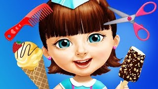 Sweet Baby Girl Summer Fun Beach Vacation Hair Salon Dress UP Nails Makeover Kids & Girls Games