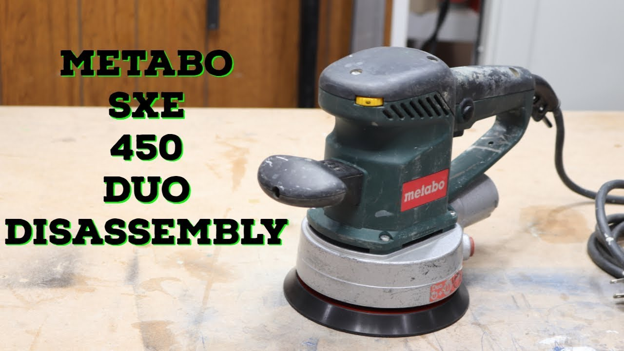 metabo sxe 450 duo disassembly - youtube