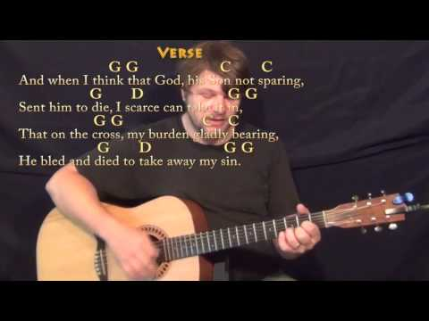 How Great Thou Art (Hymn) Strum Guitar Cover Lesson in G with Chords/Lyrics