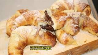 Çikolatalı crossaint Poğaça ve peynirli Crossaint tarifi Nurmutfagi NurGüL