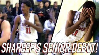 Shareef O'Neal Goes Down Hard AGAIN Saving Game! 31 POINT SENIOR DEBUT in BATTLE VS Beverly Hills