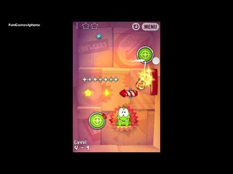 Cut the Rope 4-23 Experiments Drawing rocket science result improved IPhone 4S 3 stars from YouTube · Duration:  39 seconds