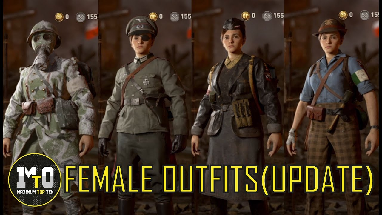 Call Of Duty Wwii All Outfits Female Models New Update Youtube