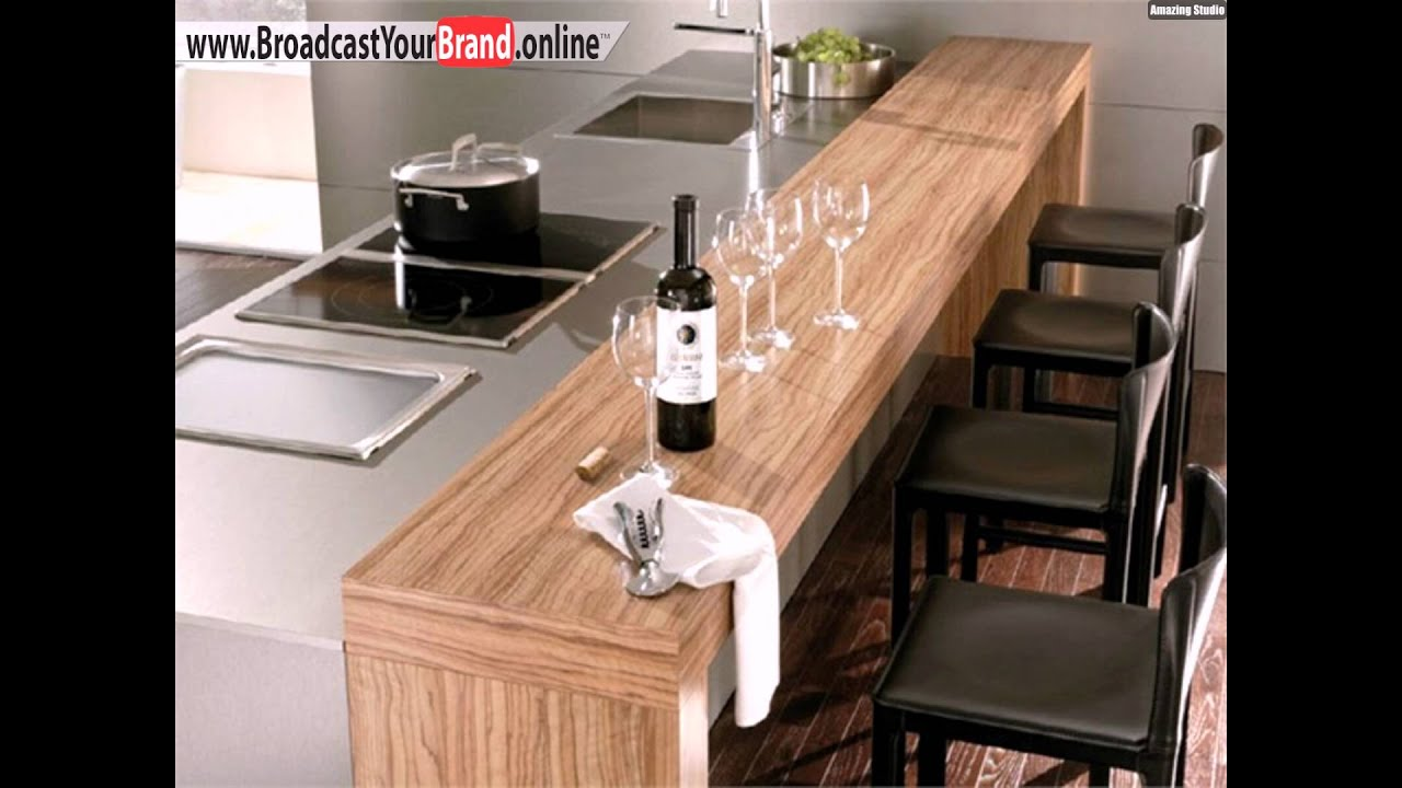 holz theke kochinsel k che youtube. Black Bedroom Furniture Sets. Home Design Ideas
