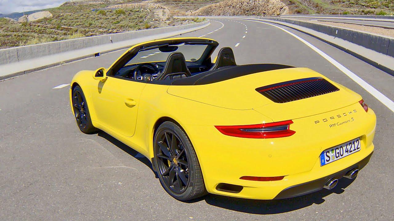 2016 Porsche 911 Carrera S Cabriolet Type 991 Ii Racing Yellow Youtube