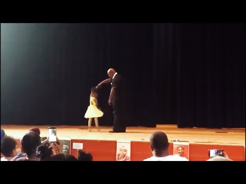 Father Dances With Daughter At Recital