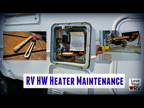 RV Hot Water Heater Maintenance Suburban SW6DE