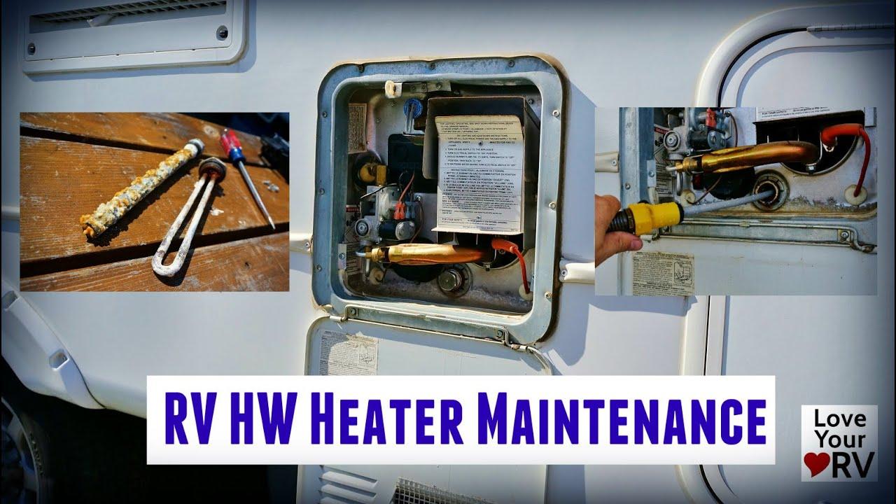 RV Hot Water Heater Maintenance Suburban SW6DE  YouTube