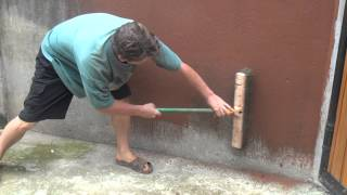 Painting Cement Walls With Clay Slip Part 1 of 2