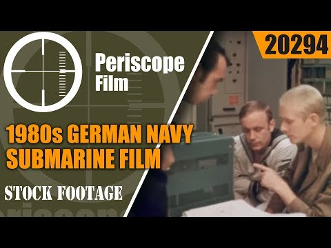 1980s COLD WAR GERMAN NAVY & SUBMARINE FILM   20294