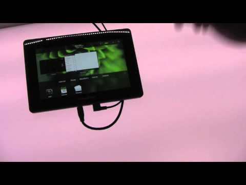 BlackBerry PlayBook Bridging Demo at CES 2011
