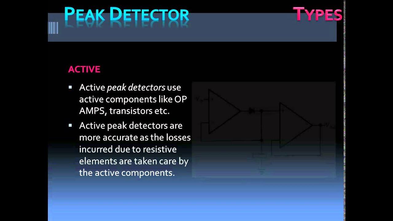 peak detector youtube rh youtube com Peak Detector IC Peak Detector 5Mhz