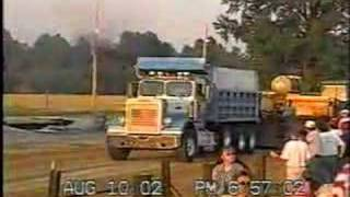 Pulling Stock Tri-axel Dump Trucks at Clay City, IN 2002