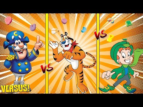 Minecraft Versus - CEREAL KILLERS - BREAKFAST BATTLE - CAP'N CRUNCH V LUCKY CHARMS V TONY THE TIGER