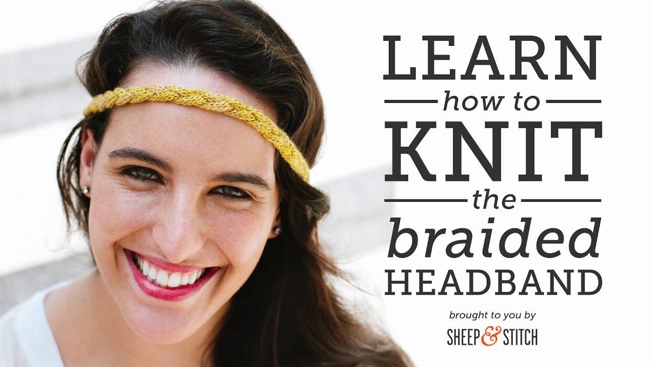 How to Knit an Easy Braided Headband - YouTube