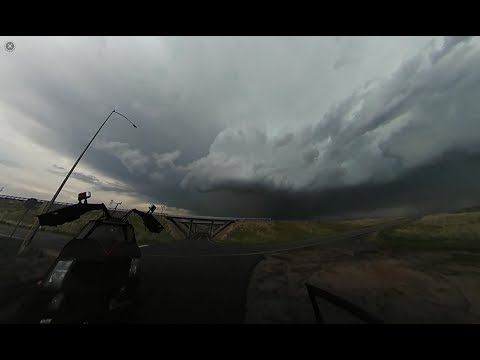 360 degree video of tornado warned supercell SW of Sterling, Colorado on May 25, 2017