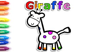 ❤ How to draw animal giraffe &  balloons ⭐Glitter drawing for kids⭐Kids coloring ❤️ Candy Toy Art