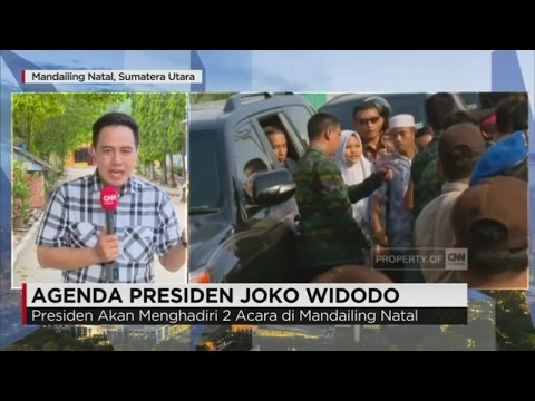 Presiden Jokowi Dihadang Ribuan Siswa & Warga Mandailing Natal