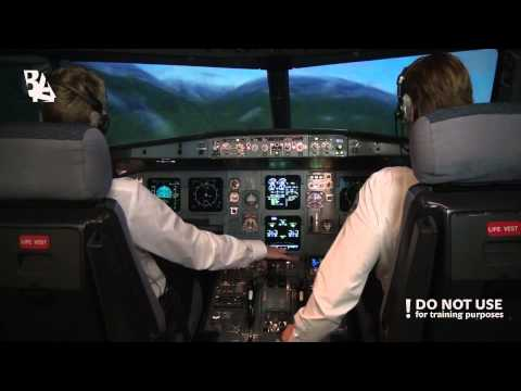 Visual Approach at Innsbruck Airport in A320 - Baltic Aviation Academy