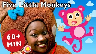 Five Little Monkeys and More | Nursery Rhymes from Mother Goose Club! Kids Play Video | Children
