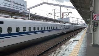 東海道・山陽新幹線N700系 姫路駅通過