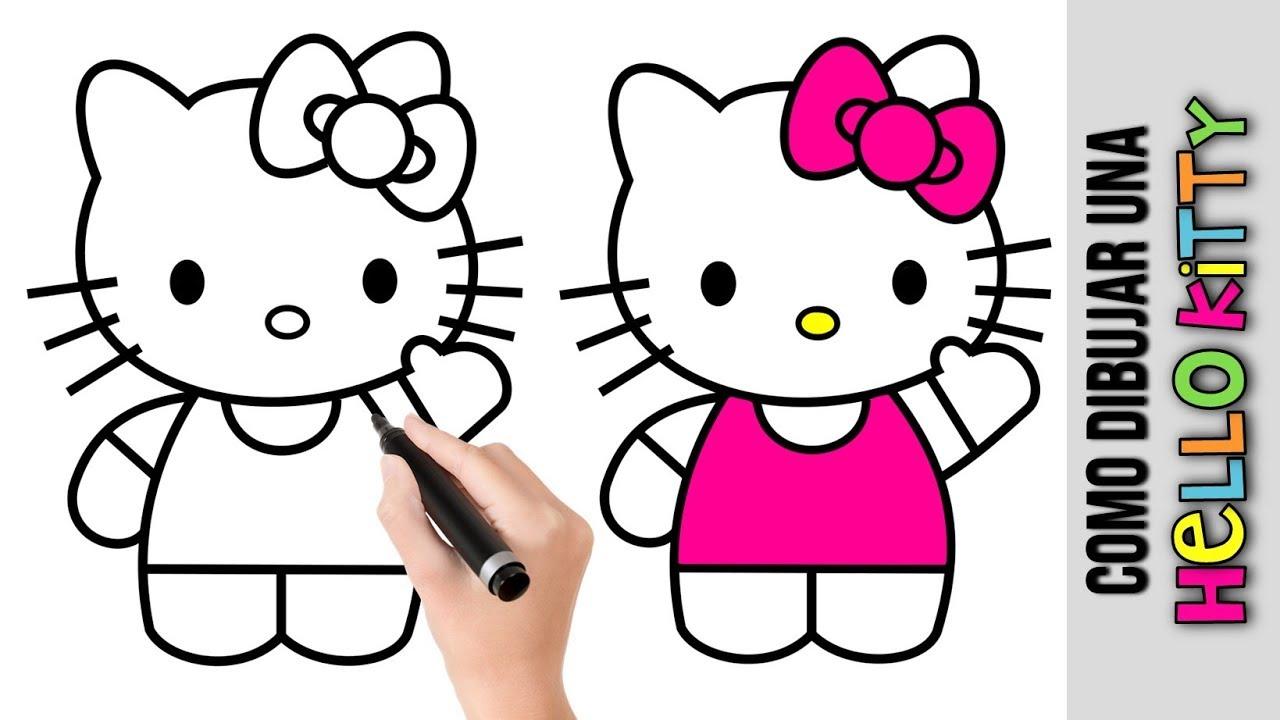 Como Dibujar Una Hello Kitty Dibujos Fáciles Para Dibujar Paso A Paso