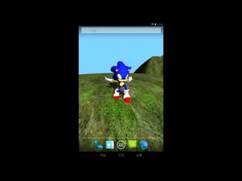 Sonic 3d Live Wallpaper Android Youtube