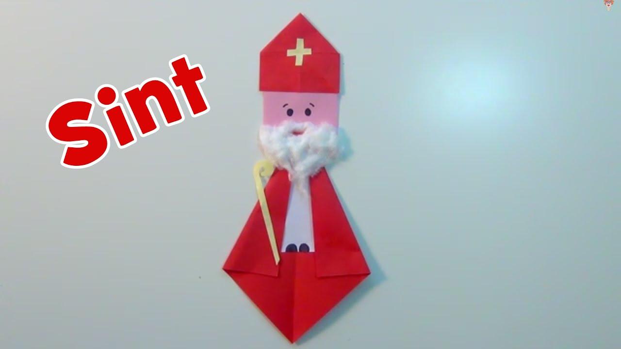 Kleurplaten Thema Sinterklaas.Sinterklaas Vouwen En Knutselen Van Papier Youtube