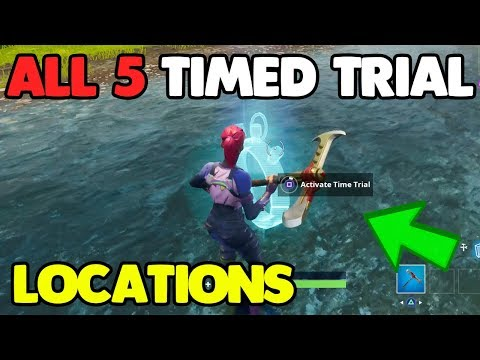 """""""Complete Timed Trials"""" ALL 5 LOCATIONS! Fortnite Week 6 Challenges"""