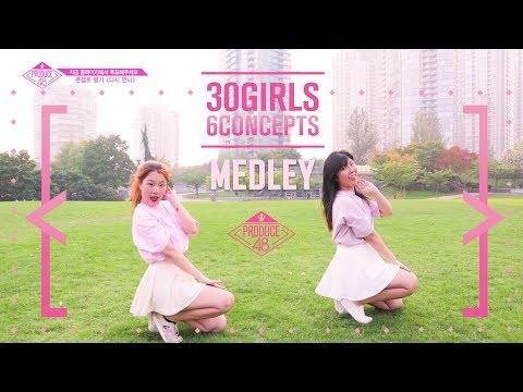 【KPOP IN PUBLIC】 PRODUCE48 [medley] ♬1000%/Rollin'Rollin'/Rumor/I AM/너에게 닿기를/다시 만나 | Anson X Somi