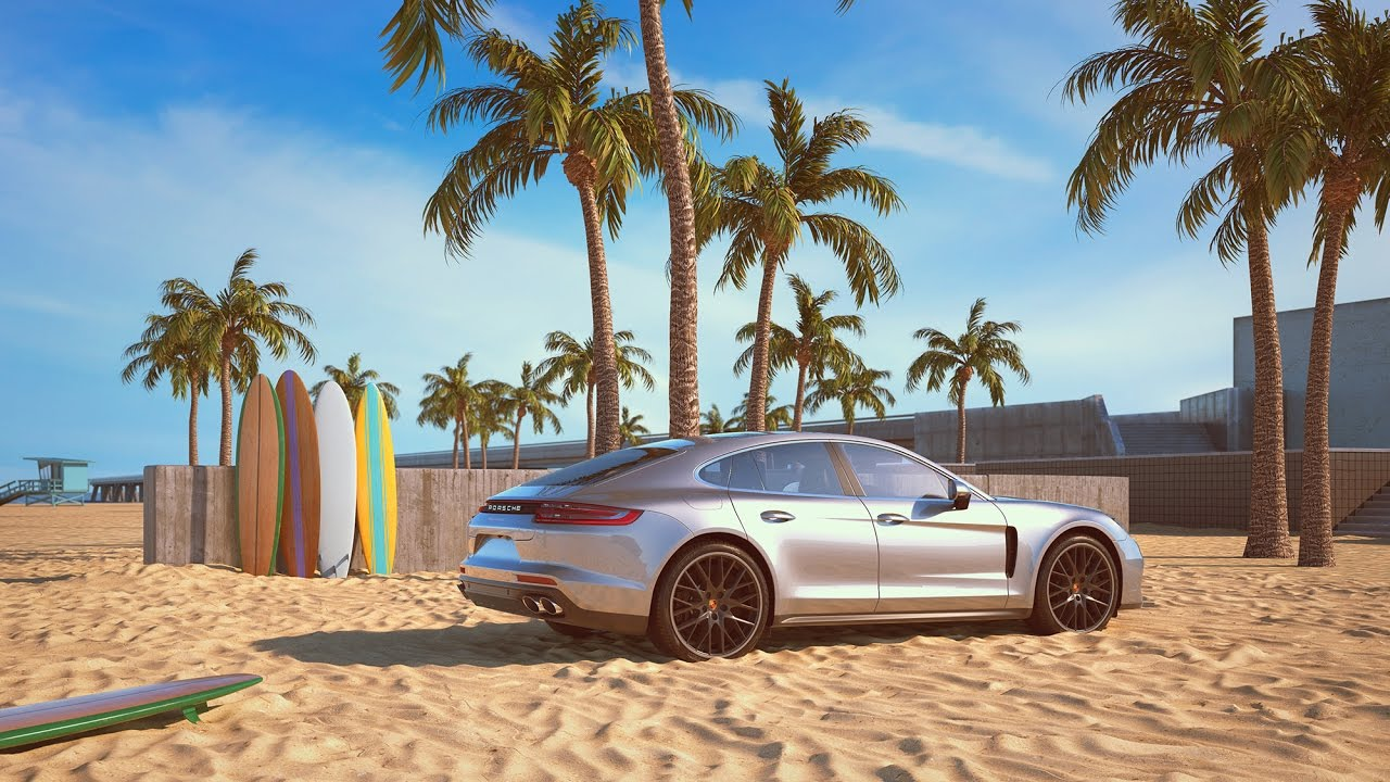 Porsche Panamera 4S >> The sound of the Panamera 4S - visualized by CGI artist ...