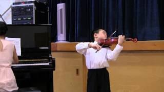 "Violin Prodigy Spencer Tsai, age 8, - Elgar ""Salut d"