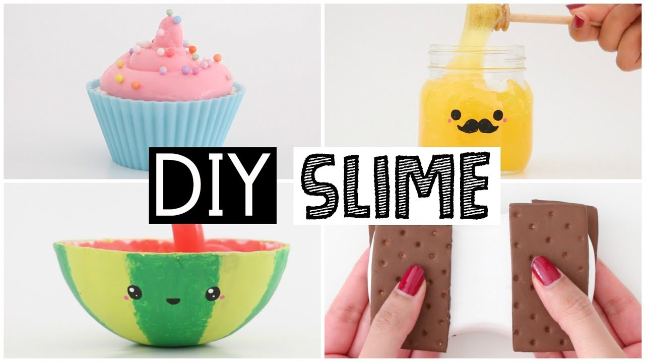 making 4 amazing diy slimes four easy slime recipes cute room decor diy 2017 home decor ideas diy 2017